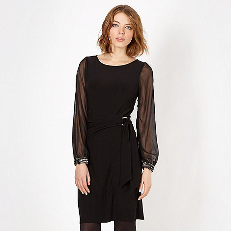 Red Herring - Black side buckle dress