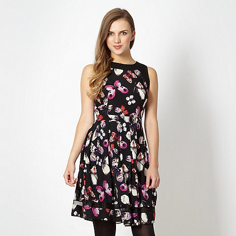 Red Herring - Black butterfly dress