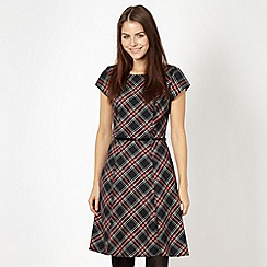 Red Herring - Black tartan fit and flare dress