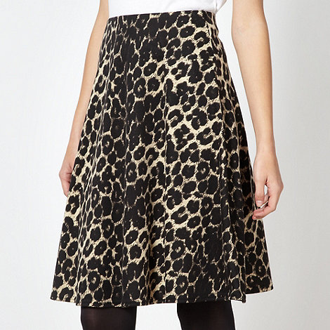 Red Herring - Natural leopard jersey skater skirt