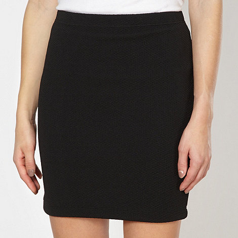 Red Herring - Black textured mini skirt