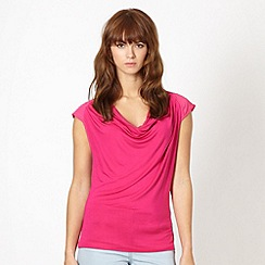 Red Herring - Pink cowl neck top