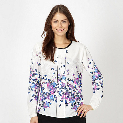 Red Herring - White scattered butterflies top