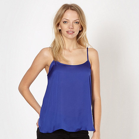 Red Herring - Royal blue satin camisole