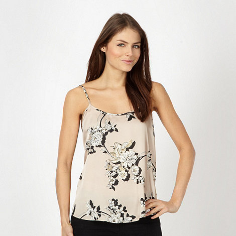Red Herring - Beige satin floral camisole