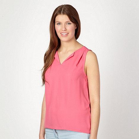 Red Herring - Pink crepe zip back vest