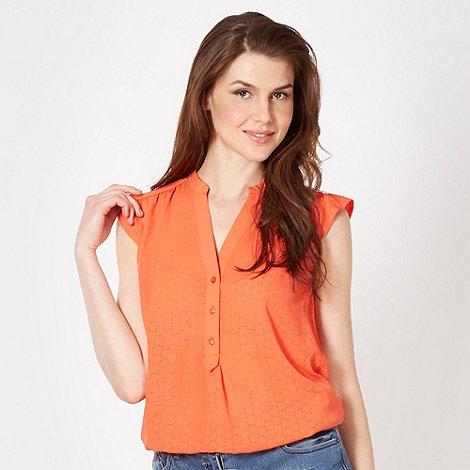 Red Herring - Orange laser cut shirt