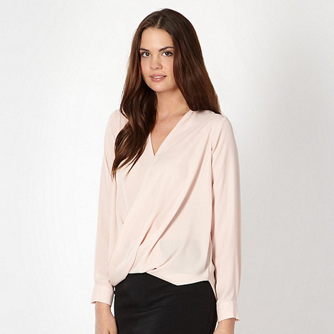 Red Herring - Light pink wrap shirt