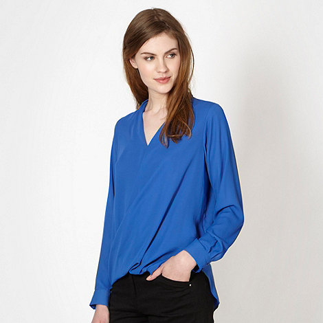 Red Herring - Royal blue wrap shirt
