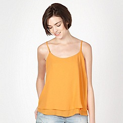 Red Herring - Orange plain layered camisole
