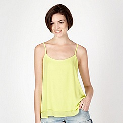 Red Herring - Lime plain layered camisole