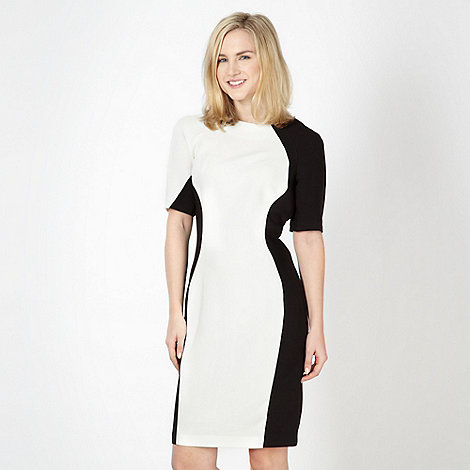 Red Herring - White colour block panel bodycon dress