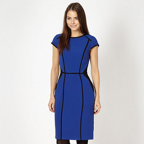 Red Herring - Royal blue colour block bodycon dress
