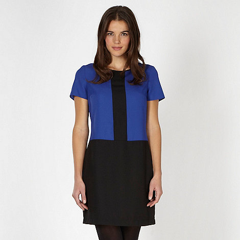 Red Herring - Royal blue colour block shift dress