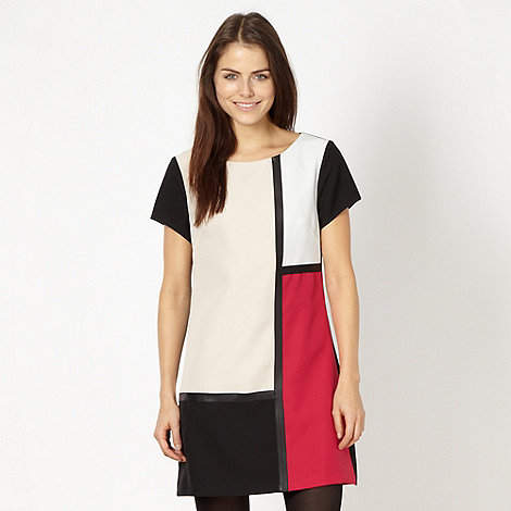 Red Herring - Pink colour block shift dress
