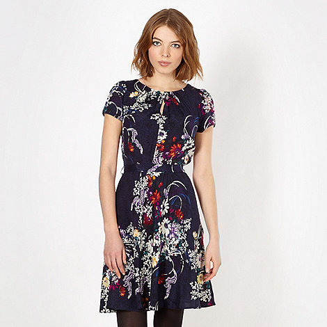 Red Herring - Navy daisy shift dress