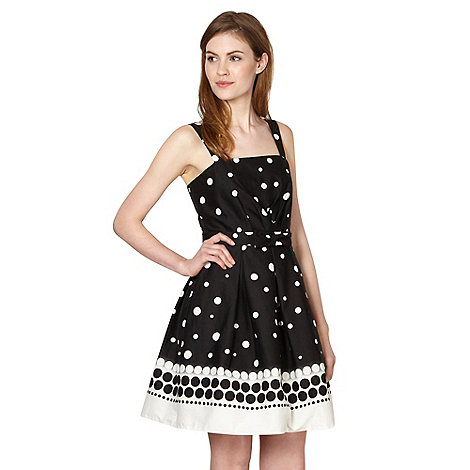 Red Herring - Black graduated spotted prom dress