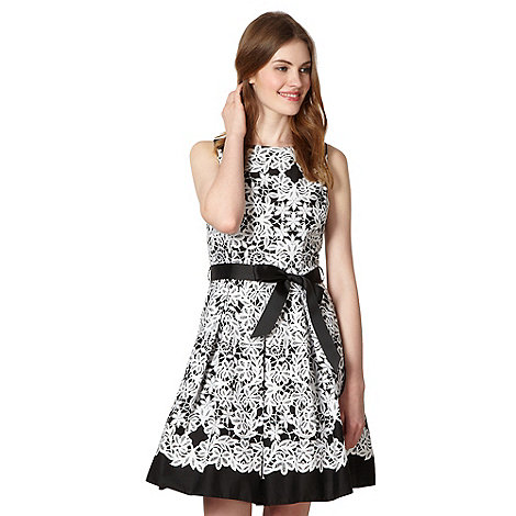 Red Herring - Black floral print prom dress