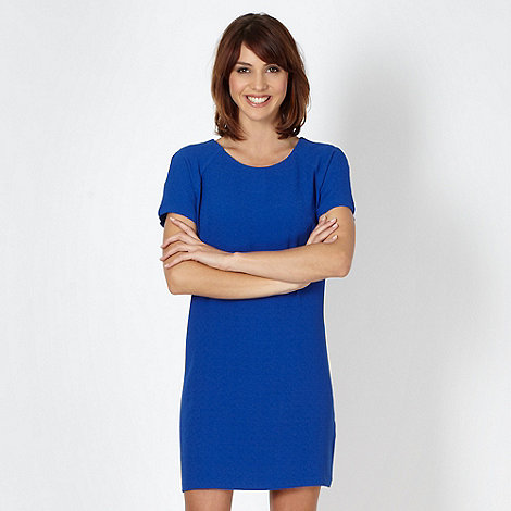 Red Herring - Royal blue crepe shift dress