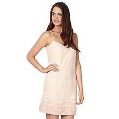 Red Herring - Pale pink snakeskin crepe slip dress