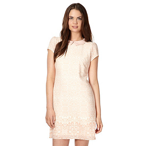 Red Herring - Pale pink snakeskin crepe dress