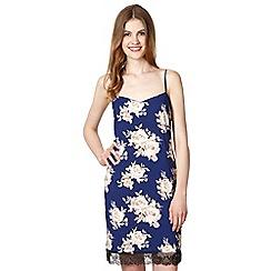 Red Herring - Royal blue floral slip dress