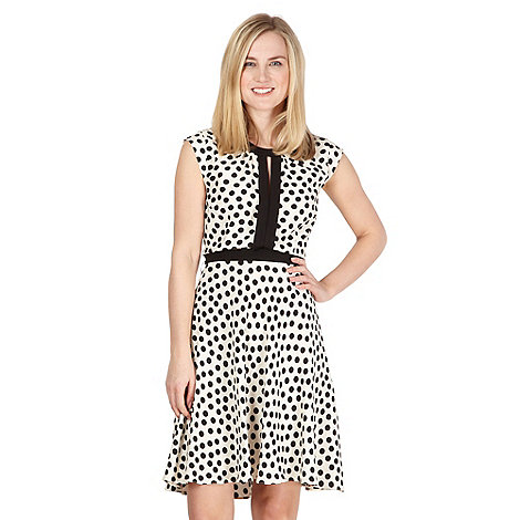 Red Herring - Ivory woven spotted dress