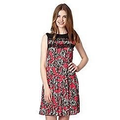 Red Herring - Dark pink floral lace dress