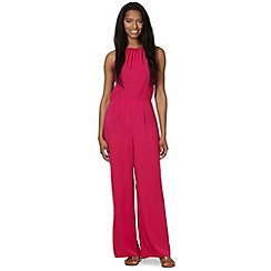 Red Herring - Pink cami open back jumpsuit