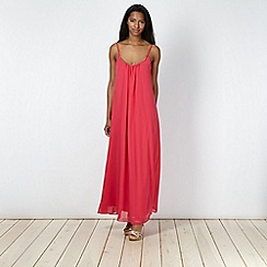 Red Herring - Pink necklace maxi dress