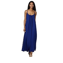 Red Herring - Royal blue necklace maxi dress