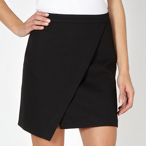 Red Herring - Black asymmetric skirt