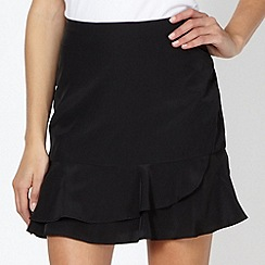 Red Herring - Black plain frill skirt