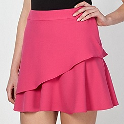 Red Herring - Pink crepe flippy skirt