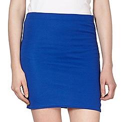 Red Herring - Royal blue textured mini skirt