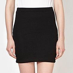 Red Herring - Black textured mini skirt