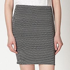 Red Herring - Black textured spotted skirt