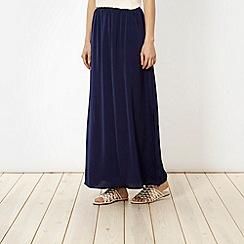 Red Herring - Navy hammered satin maxi skirt