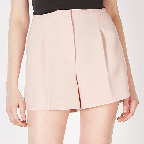 Red Herring - Light pink textured high waisted shorts