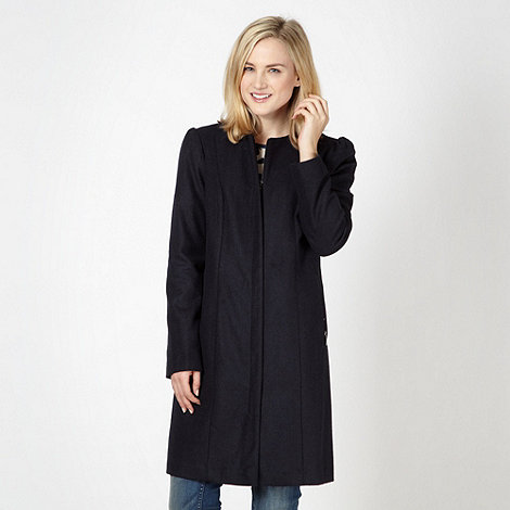 Red Herring - Navy collarless coat