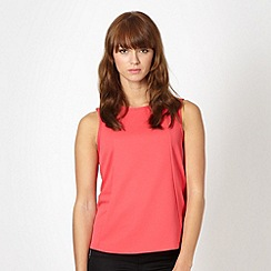 Red Herring - Pink textured stitched panel vest