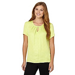 Red Herring - Lime butterfly jacquard top