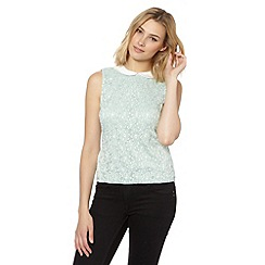 Red Herring - Light green two tone lace top