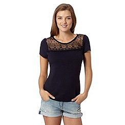 Red Herring - Navy lace top