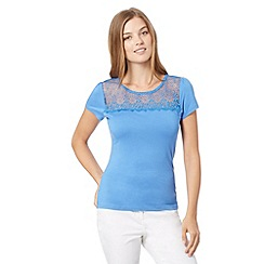 Red Herring - Blue lace insert top