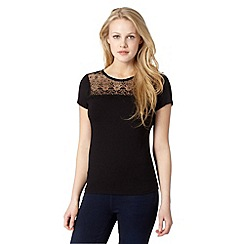 Red Herring - Black lace insert top