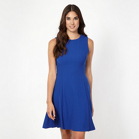Red Herring - Royal blue crepe fit and flare dress