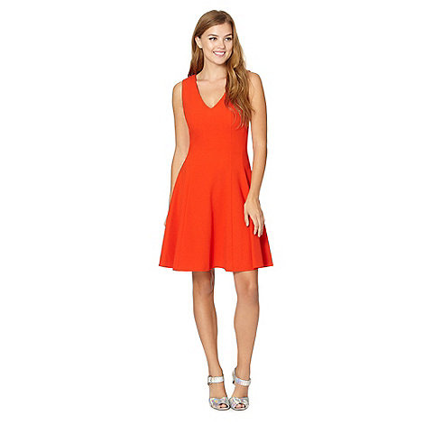 Red Herring - Dark orange crepe dress