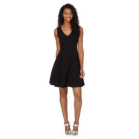Red Herring - Black flared crepe dress