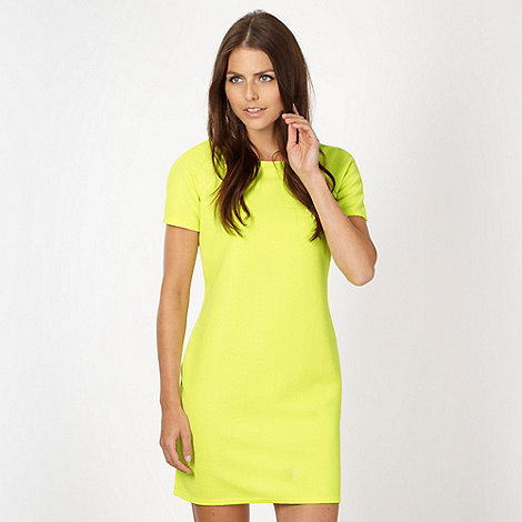 Red Herring - Neon lime textured jersey dress